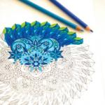 Blue Flower coloring