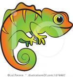Jackson's Chameleon clipart