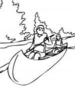 Canoe coloring