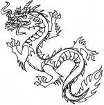 White Dragon coloring