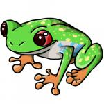 Magnificent Tree Frog clipart