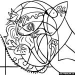 Cubism coloring