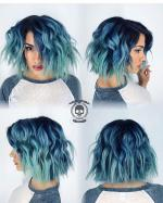 Dark Blue  White Turquoise coloring