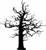 Dead Tree Dark Abstract clipart