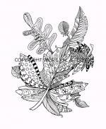 Digital Leave coloring