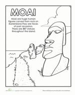 Easter Island coloring