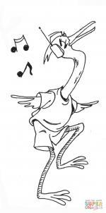 Egret coloring