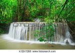 Erawan Waterfall clipart