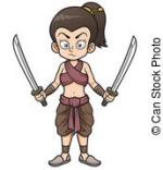 Women Warrior clipart