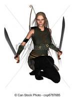 Woman Warrior clipart