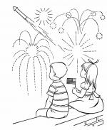 Fireworks coloring