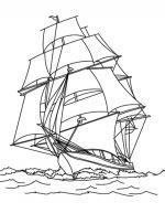 Fishing Boat coloring