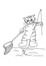 Fishing Cat coloring
