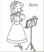 Flute coloring
