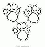 Footprint coloring