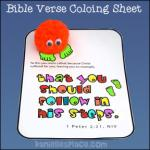 Footsteps coloring