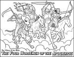 Four Horsemen Of The Apocalypse coloring