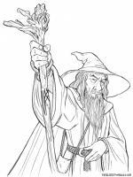 Gandalf coloring