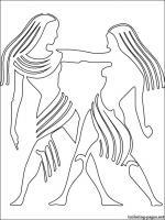 Gemini (Astrology) coloring