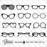 Glasses svg