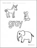 Gray coloring