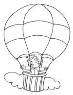 Hot Air Balloon coloring