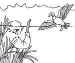 Hunting coloring