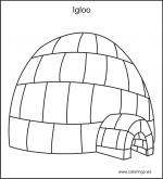 Igloo coloring
