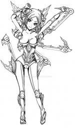 Irelia (League Of Legends) coloring