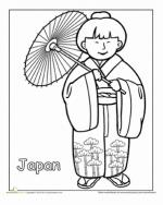 Japanese Clothes coloring