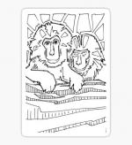 Japanese Macaque coloring
