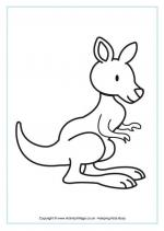 Kangaroo coloring