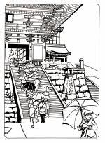 Kiyomizu-dera coloring