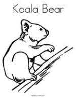 Koala Bear coloring