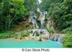 Kuang Si Waterfall clipart