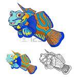Mandarinfish clipart