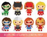 Supergirl clipart