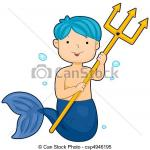 Merman clipart
