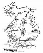 Michigan coloring