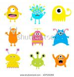 Monsters  Bed Head clipart