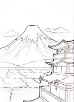 Mount Fuji coloring