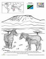 Mount Kilamanjaro clipart