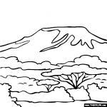 Mount Kilamanjaro coloring