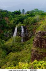 Opaeka'a Falls clipart