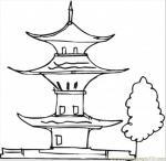 Pagoda coloring