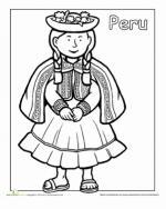 Peru coloring