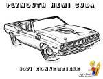 Plymouth Barracuda coloring