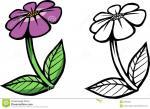 Purple Flower coloring