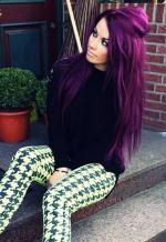 Purple Hair coloring