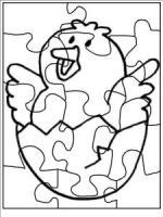 Puzzle coloring